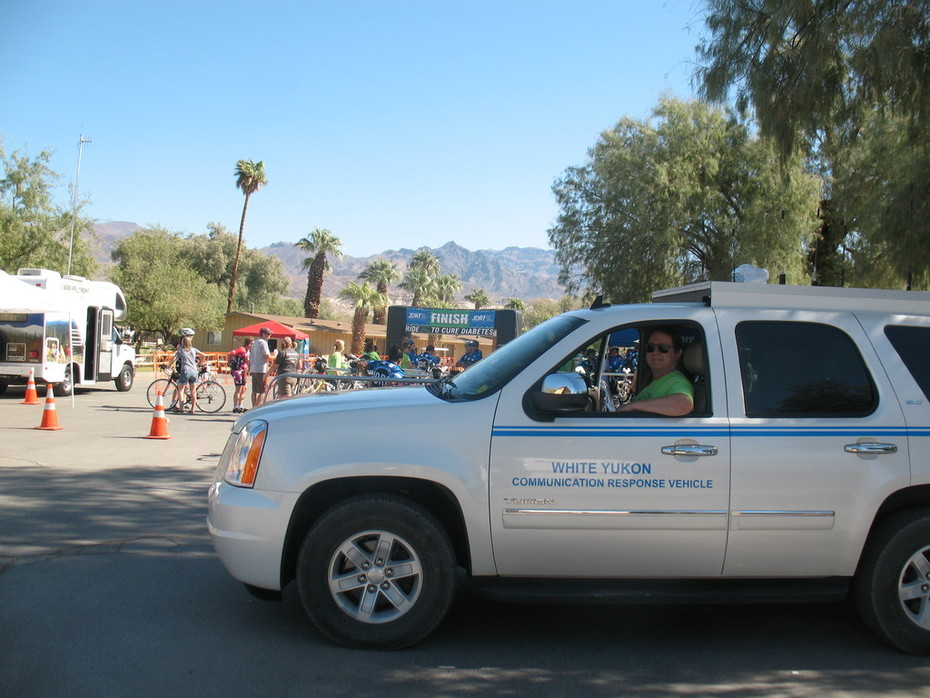 JDRF Cycling Event, Death Valley 2011, Start/finish area