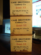 Three Case Brothers Wood Knife Boxes