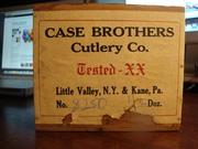 Case Brothers Pearl Elephant Toenail Wood Box