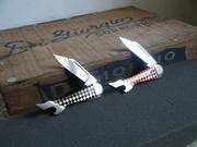 Remington Leg Knives Red & Black Checkered