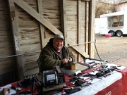 Sharpening at Farmer's Market in Waxahachie, Texas
