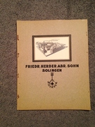 1920's Herder Knives Catalog very nice vintage catalog!!!