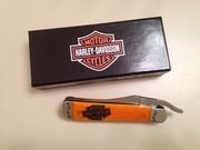 2014 CASE XX Harley Davidson Orange Bone Russlock Pocket Knife