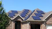 South facing solar array