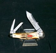 Robeson RS47GS Stag Humpback Split Spring Whittler's Knife & Original Packaging