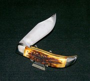 "Schrade Stag Clasp Knife ""Trail Of Tears"" Clasp Knife Circa-1977 Frank Giorgianni Artist"