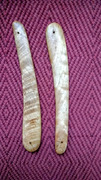 Home made razor handle scales .