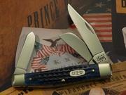Case 75 Large Stockman Pocket Worn Navy Blue 2000