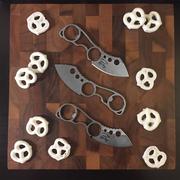 Trail Mix! White River Knucklehead knife and white choc pretzels