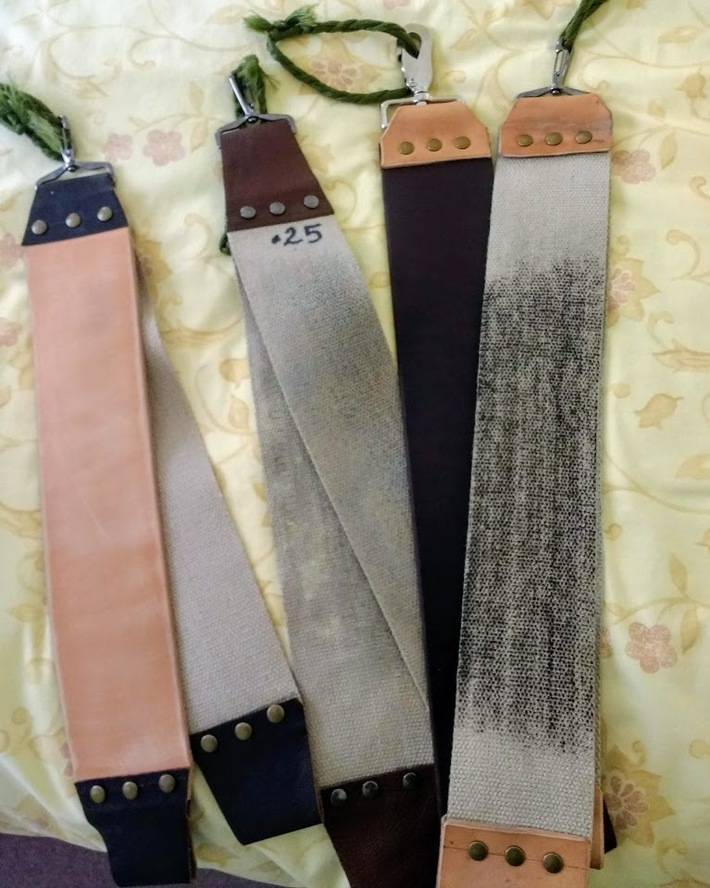 I needed to make a few more strops.