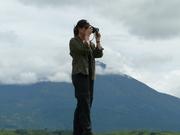 Mt Meru behind in clouds--Tanzania