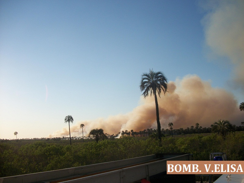 Panoramica del incendio