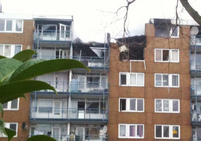 Explosión de gas en Alphen, Holanda. 1 muerto y 3 heridos