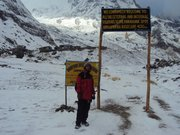 Annapurna Base Camp on the back ....