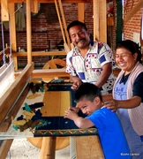 Zapotec Weaver and family