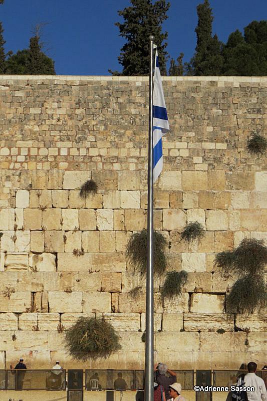 Israeli Flag at the Kotel