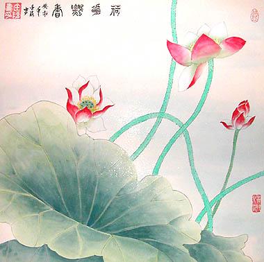 chinesepaintinglotusflowerlf5522