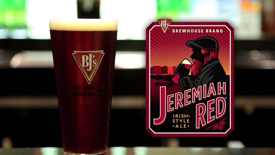 Jeremiah Red Ale is a Irish Red Ale style beer brewed by BJ's Restaurant & Brewhouse.
