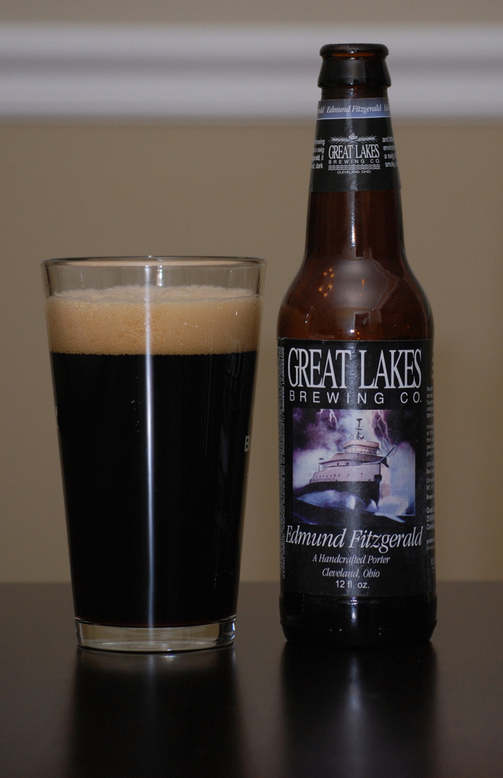 Edmund Fitzgerald Porter is a American Porter style beer brewed by Great Lakes Brewing Co.
