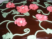Chocolate flowers and vines