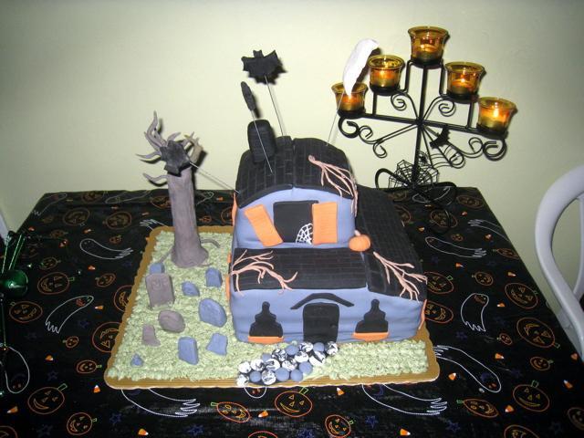 Surprising Haunted House Cake Decorating Community Cakes We Bake Funny Birthday Cards Online Inifofree Goldxyz