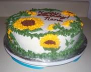 Sunflower Birthday cake pic. 1