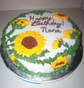 Sunflower Birthday cake pic. 2