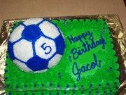 Jacob's 5th Birthday cake soccer ball