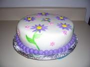 my second fondant cake pic.1