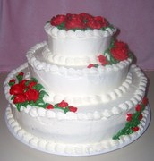 My first wedding style cake pic 1