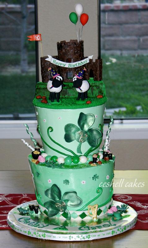Astounding Irish Birthday Cake Cake Decorating Community Cakes We Bake Personalised Birthday Cards Veneteletsinfo