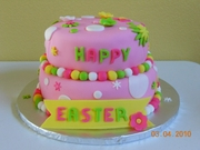 Happy Easter two tier cake
