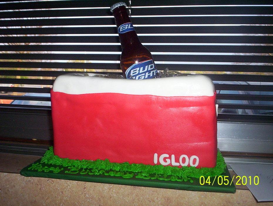 Igloo Cooler with a Bud Light