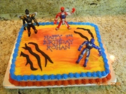 Power Ranger Cake - Half sheet