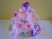 My Little Pony 2 tier cake 10 & 6 inch round cakes