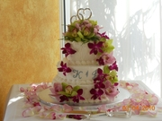 Tropical Island 3 tier wedding cake