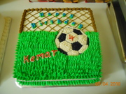 Football going through net 12 x 12 design