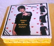 Justin Bieber Image cake