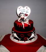 Betty Boop 21st B-Day Cake