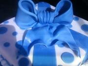Fondant Blue bow