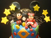 Mickey and Minni Mouse Birthday Cake