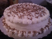 White cake with nuts