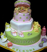 Girl Baby Shower Cake - Shoes