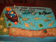 Boy's 3rd birthday cake
