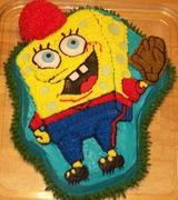 Sponge Bob Baseball Cake