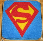 Superman Logo Cake