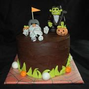 Monster Golf Cake
