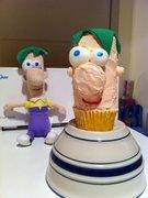 Ferb Cupcake