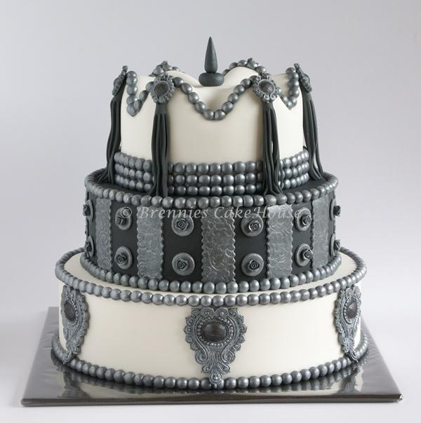 wavy top cake