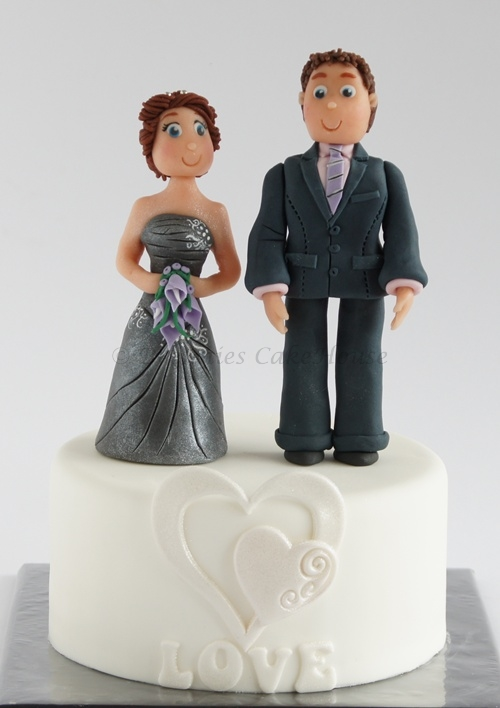 costum made bride and groom